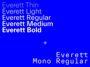 Everett font family picture n°1 by Nolan Paparelli