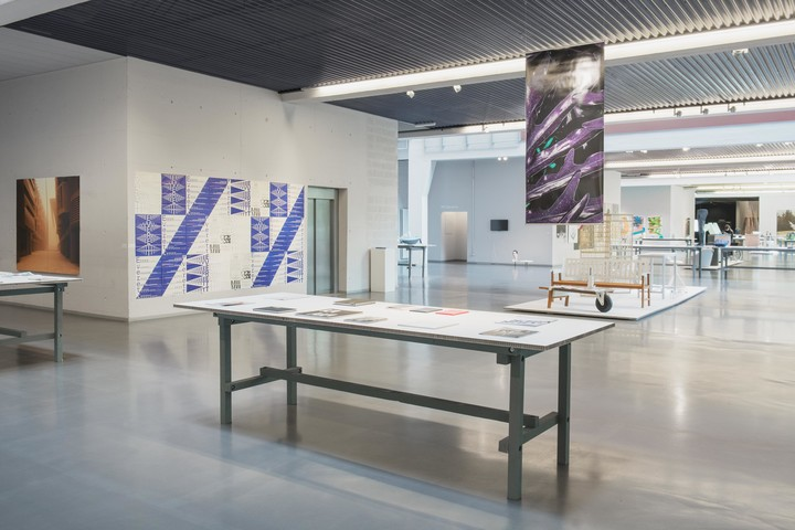 "Exhibition view of ""ECAL Diplômes 2015"" featuring the diploma work ""Everett font family"" of Nolan Paparelli, at ECAL/Hall Kudelski, Renens, Switzerland"