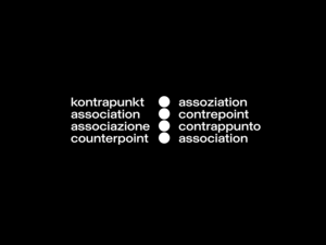 Logotype for Counterpoint association designed by Nolan Paparelli in collaboration with Sebastian Vargas (KAIROS STUDIO)