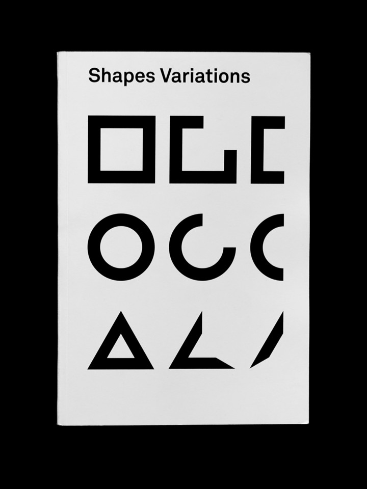 "Cover of ""Shapes Variations"", project at ECAL, editorial design by Nolan Paparelli"